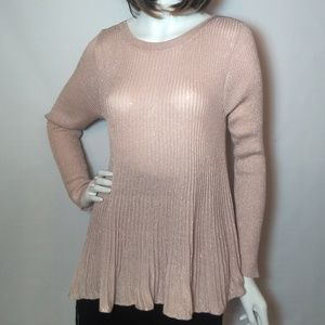 Cable and Gauge Light Pink Sweater